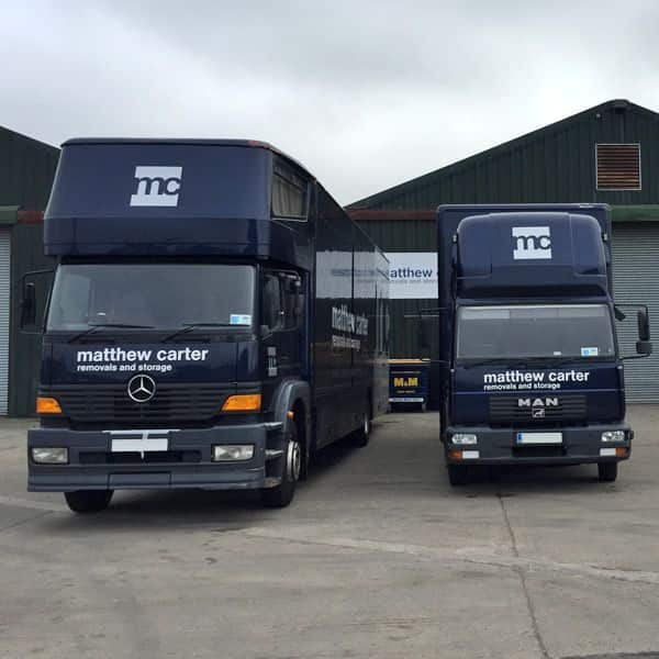Various sizes of removal vehicles
