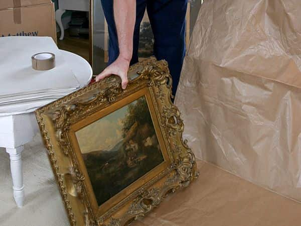 Packing up antique frames