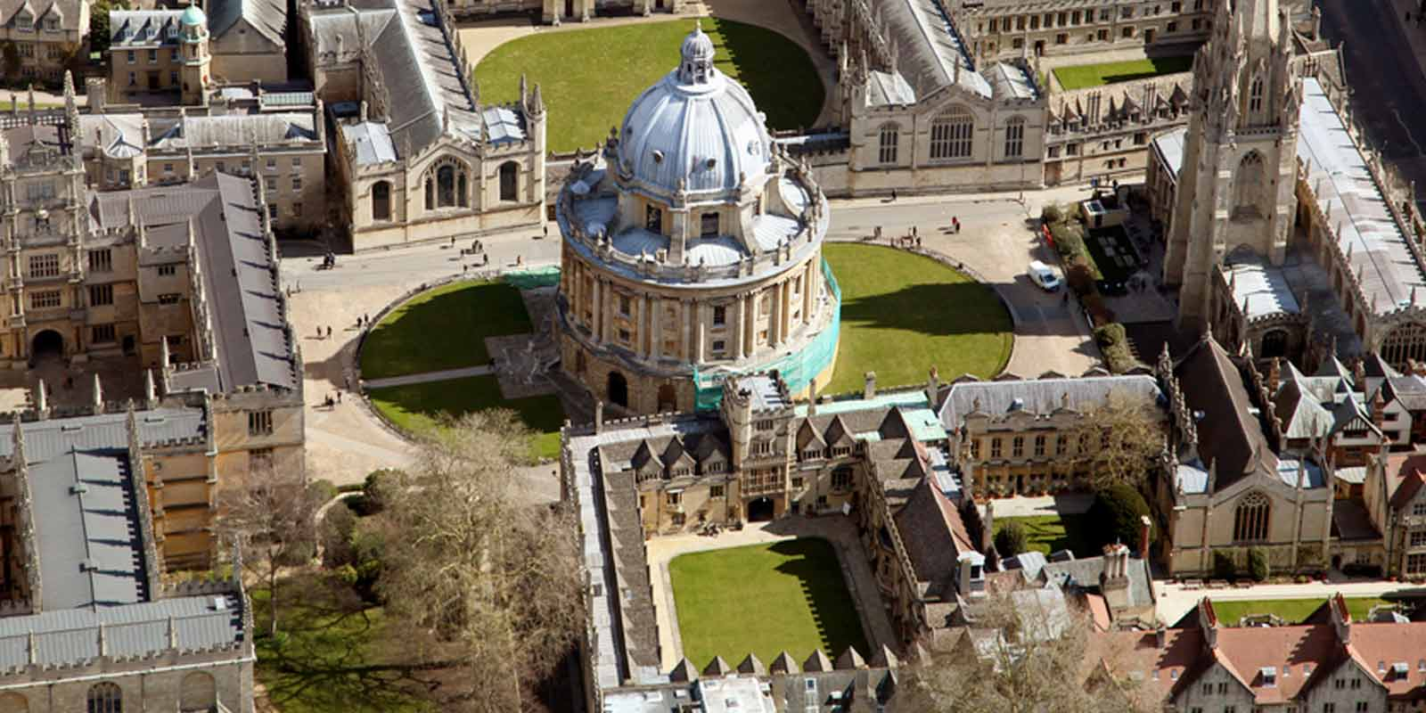 Oxford landscape aerial view